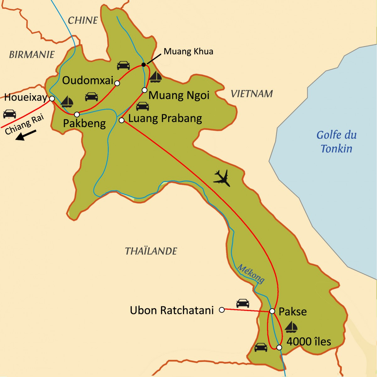 Laosvo : Trouver un pays plein d'attractions importantes